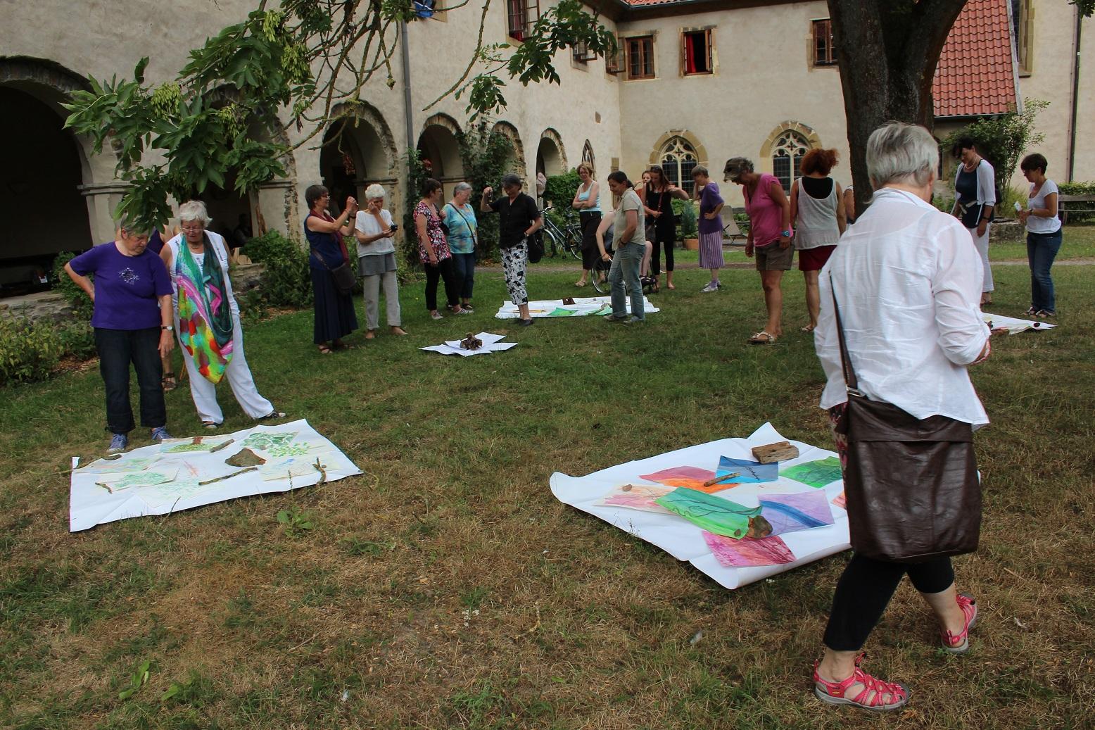 Sommer-Akademie im Kloster Malgarten Übungsbetrachtungen Malen