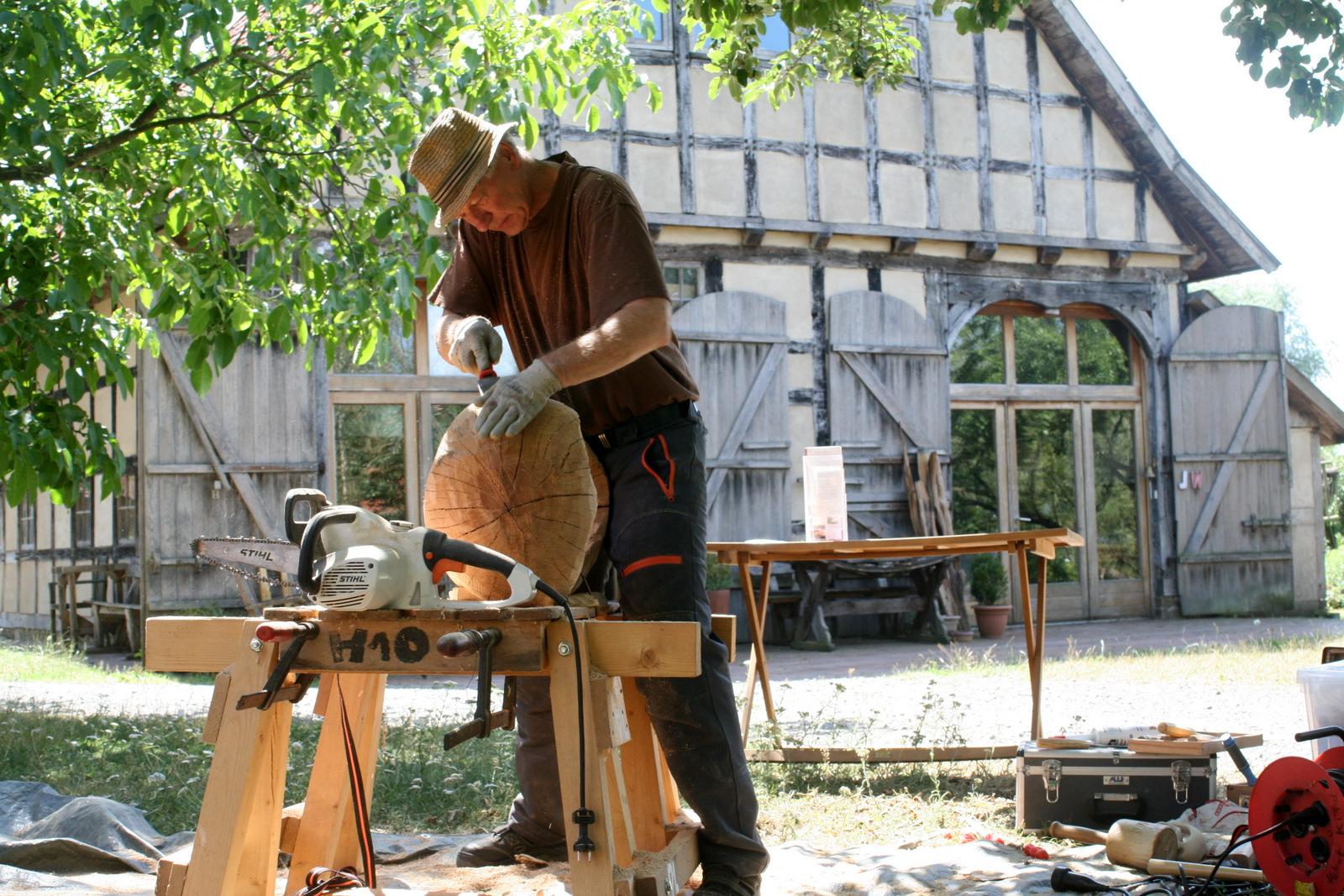 Atelier hestia im Kloster Malgarten: Holzsymposium, Helmut Szepansky